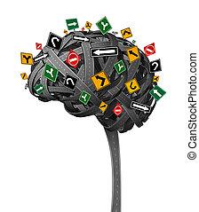 hersenen, richting