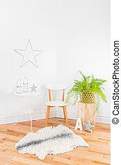 herskabelig, moderne, decor til hjem, hos, naturlig, arbejdsmateriale
