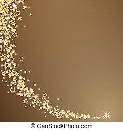 herskabelig, vektor, jul, baggrund