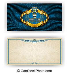 herskabelig, vip, luksus, skabelon, invitation