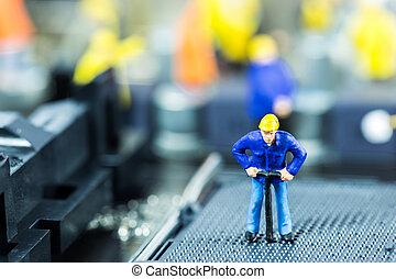 herstelling, herstelling, concept, moeder, computer circuit, team, board., ingenieurs