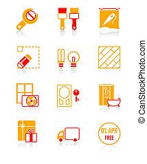 herstelling, iconen, reeks, sappig, thuis, |