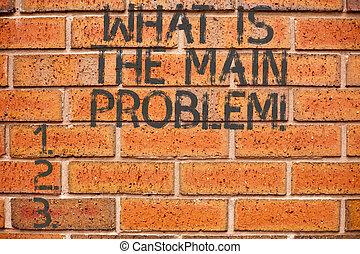 herstelling, wat, work., zakelijk, conceptueel, foto, het tonen, problemen, schrijvende , problem., identificeren, hand, showcasing, geweld, oorzaak