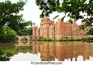 herstmonceux, αγγλία , αιώναs , sussex , τούβλο , ανατολή , κάστρο , 15th