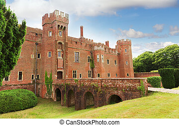 herstmonceux, αγγλία , sussex , τούβλο , ανατολή , κάστρο
