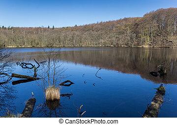 Herthasee lake in Jasmund National Park on Rugen Island, Germany