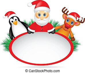 hertje, penguin, claus, kerstman
