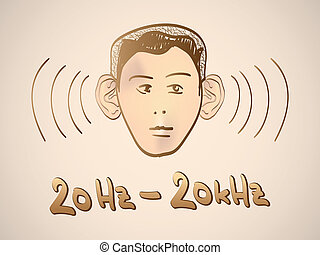 Hertz frequency spectrum range - illustration