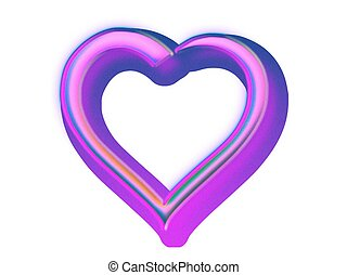 Herz, 3D - grafik, herz, 3d, farbe