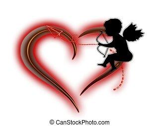 Herz, Amor,Pfeil - herz, amor, pfeil, liebe, vektor