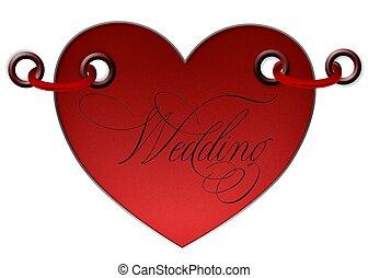 Herz, Aufkleber, Wedding - herz, aufkleber, wedding,