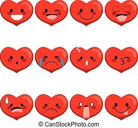 herz, ausdrücke, emoji