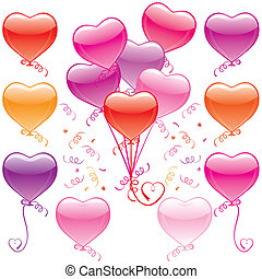 herz, balloon, blumengebinde
