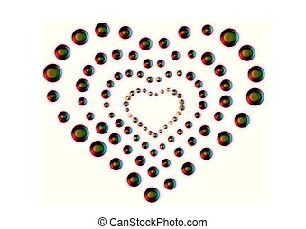 Herz- form, Abstrakt, Vektor - herz- form, abstrakt, vektor