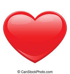 herz- form, für, liebe, symbole