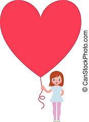 herz, freigestellt, background.eps, valentine, geschenke, m�dchen, weißes