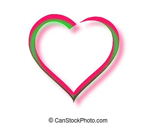 Herz - grafik, herz, farbe