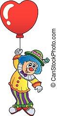 herz hat gestaltet, balloon, clown, 1, thema