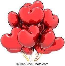herz hat gestaltet, liebe, luftballone, party