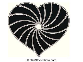 Herz - herz, abstrakt, vektor