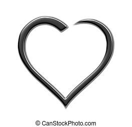 Herz - herz, vektor, muster, abbildung