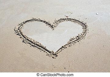 herz, in, sand