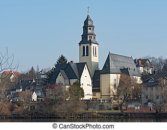 Herz Jesu Church, Kelsterbach am Main, Hesse, Germany
