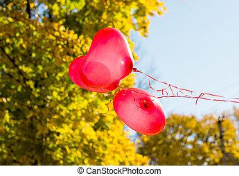 herz, liebe, luftballone