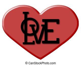 Herz, Love - herz, muster, relief druck, love, grafik