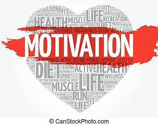 herz, motivation, wort, wolke