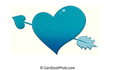 Herz- pfeil, Amor, Vektor - herz- pfeil, amor, vektor