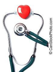 herz, &, stethoskop