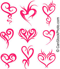 herz, symbol, design