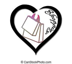 Herz, Tasche, Shoppen - herz, tasche, shoppen