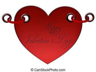 Herz, Valentine - herz, gru?, valentine, aufkleber, rot