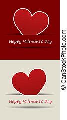 herz, vektor, tag, valentines