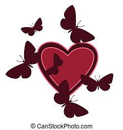 herz, vlinders