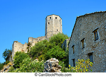 herzegovina., citadel, pocitelj, bosnia