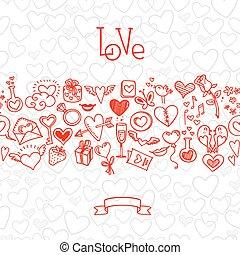 herzen, liebe, doodles