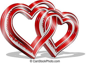 Herzen, Rote, 3D - herzen, rote, 3d