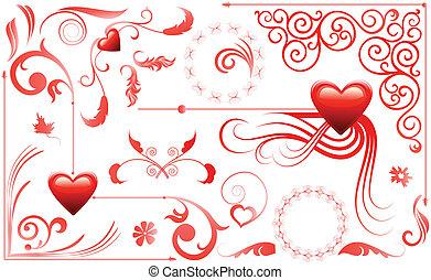 herzen, satz, liebe, valentine