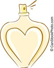 herzfarbe, abbildung, parfüm, vektor, oder