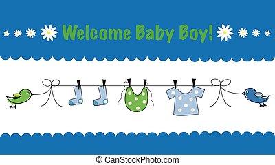 herzlich willkommen, baby- junge