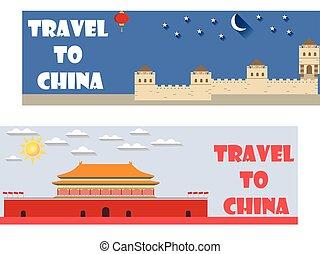 herzlich willkommen, zu, china., tourism.