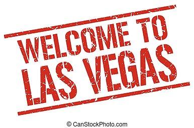 herzlich willkommen, zu, las vegas, briefmarke