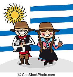 herzlich willkommen, zu, uruguay, leute