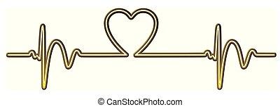 Herzschlag, Herz - herzschlag, herz, grafik