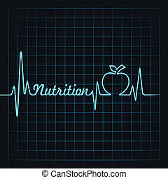 herzschlag, machen, wort, ernährung