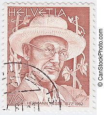 Hesse, :, estampilla, actuación, -, 1962, suiza, impreso,...