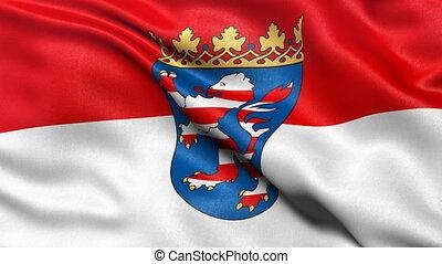 Hesse state flag seamless loop
